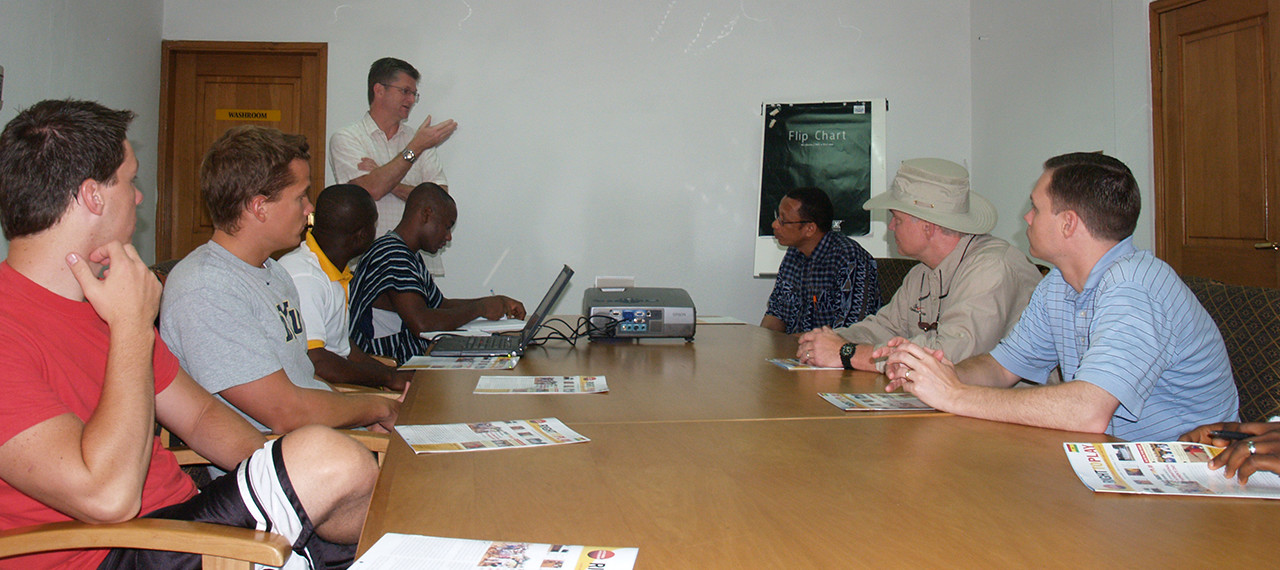 Talking at the conference table