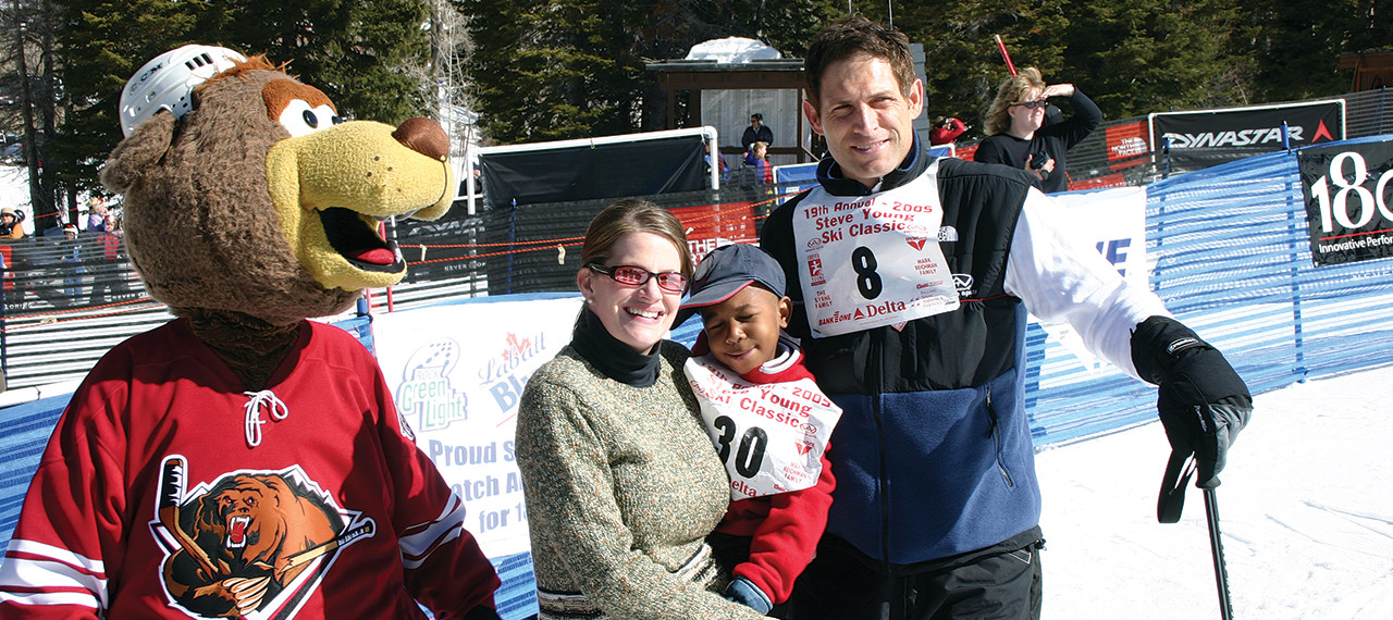 Steve Young and friends at Ski Classic