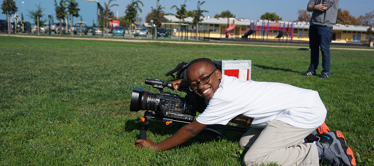Smiling with a video camera