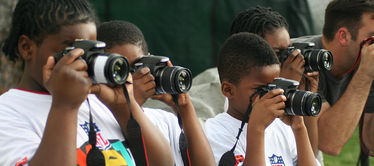 Kids use cameras