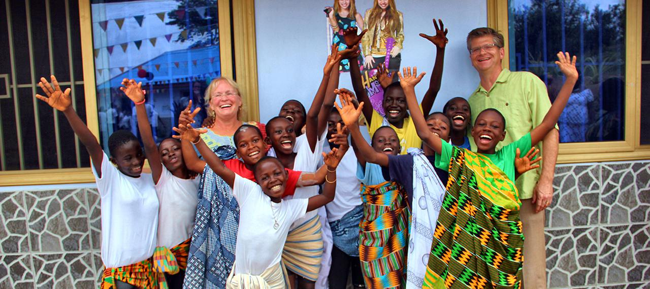 Happy kids in Africa