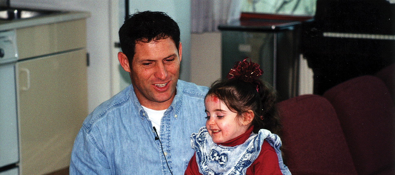 Steve Young with a young friend
